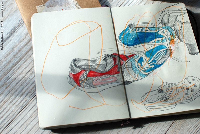 Sketch flash mob: shoes