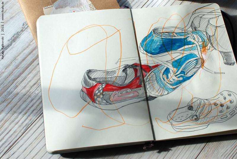 Sketch flash mob: shoes
