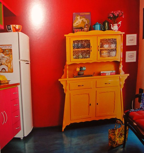 Cores vibrantes na cozinha...