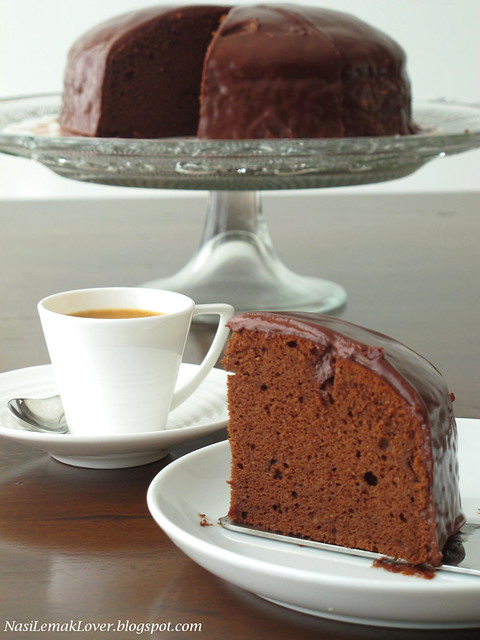 Rich chocolate sponge cake