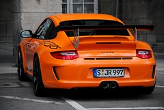 RennSport in orange. (SvenK | Carspottography) Tags: orange photography nikon stuttgart 911 gimp porsche editing nikkor sven hbf rs supercars gt3 997 18105 carspotting svenk rennsport d3000 klittich