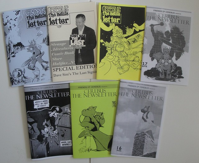 All the Cerebus the Newsletters to date