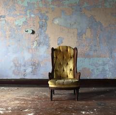 * (Lisa Toboz) Tags: abandoned yellow chair naturallight forgotten westvirginia utata walls peelingpaint weston crumbling utatafeature colorstory transalleghenylunaticasylum utata:entry=1 doctorsapartment utata:project=colorstoryyellow
