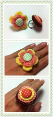 Crocheted Rings (Jaravee) Tags: flower handmade crochet ring kawaii