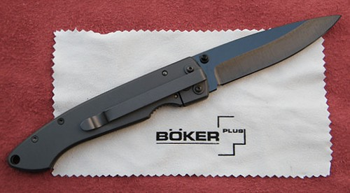 "Boker Plus Anti-MC Folding Knife 3-1/4"" Ceramic Blade, Titanium Handles"