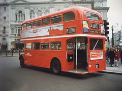 London Northern RM1428 on route 13 London  1993 (Ledlon89) Tags: bus london transport piccadillycircus routemaster lt parkroyal londonbus aec vintagebuses londonnorthern