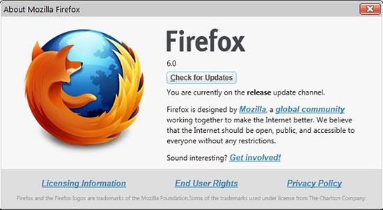 Firefox 6 ตัวเต็มออกแล้วครับ ดาวน์โหลดได้เลย