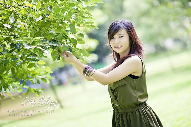 chụp hình chân dung ngoại cảnh - model Ngọc Trinh