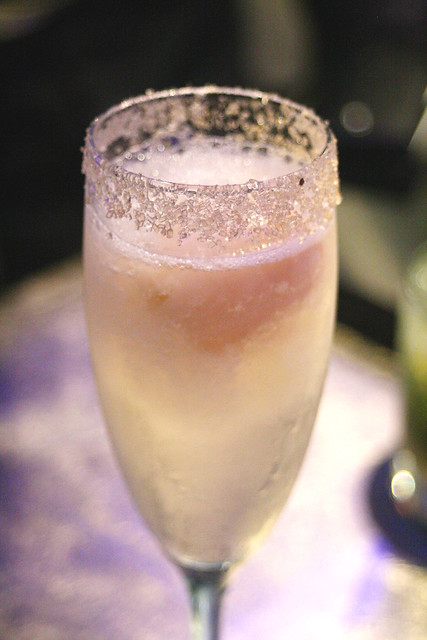 Lychee Bellini - lychee and champagne