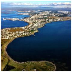 Goodbye Reykjavik (IT-nok) Tags: iceland aerial reykjavik cape headland iphone aerea islanda promontorio 66n iphoneshots simoneconti iphoneography itnok contisimone
