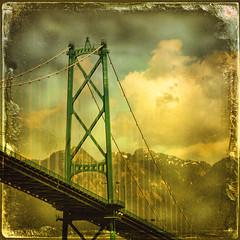 Vancouver's Lions Gate Bridge (Nick Kenrick.) Tags: city bridge vacation canada mountains vancouver landscape bc canadian burrardinlet stanleypark lionsgatebridge tatot zedzap magicunicornverybest magicunicornmasterpiece