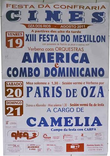 Oza dos Ríos 2011 - Festa da Confraría en Cis - cartel