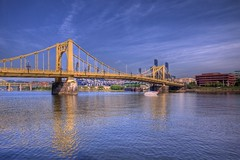 P1240567_8_9_tonemapped (Michael.Lee.Pics.NYC) Tags: park bridge blue sky river pittsburgh pa roberto hdr allegheny mlb clemente pnc photomatix