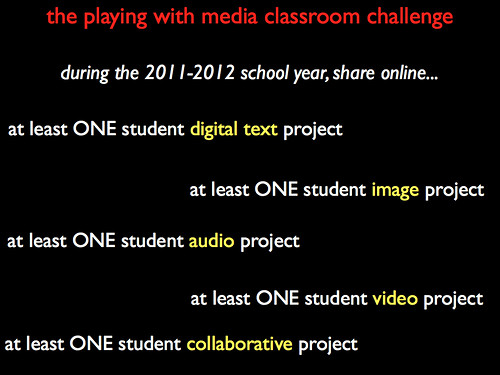 the playing with media classroom challenge