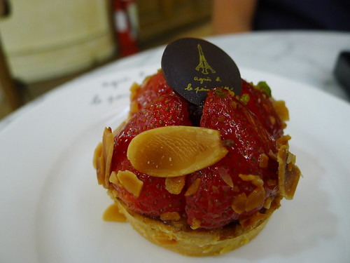Strawberry tart at Agnes B