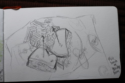 Sketch of lunch @ Holiday Ham