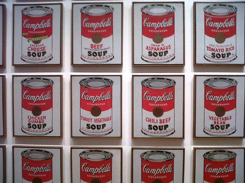 New York - Campbell's Soup Cans - Andy Warhol exposta no MoMa