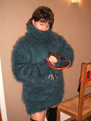 Femdom mistress in a mohair Turtleneck sweater (Mytwist) Tags: woman wool lady fetish bdsm mohair turtleneck mistress polo femdom