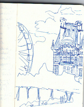 Louvres and Grande Roue Sketch