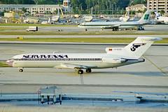 YV-823C Boeing 727-2D3 SERVIVENSA MIA 27JAN99 (Ken Fielding) Tags: yv823c boeing 7272d3 servivensa trijet aircraft airplane airliner jet jetliner