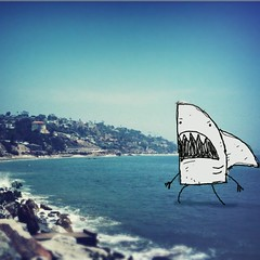Shark Monster Doodle (sketchy pictures) Tags: square squareformat normal iphoneography instagramapp uploaded:by=instagram