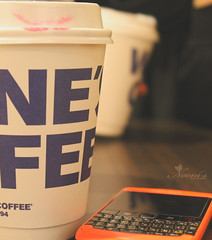 Take a break ,, ( Nooni ) Tags: blue orange black coffee blackberry waynescoffee