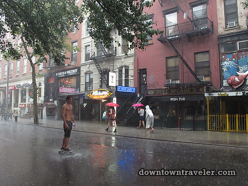 NYC getting ready for Hurricane_St Marks Skateboarder