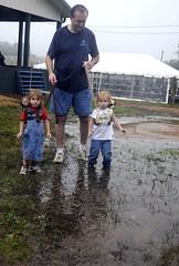 0828_LOC_tvillefair0393 (newspaper_guy Mike Orazzi) Tags: water rain weather twins mud fair leash d300 hurricaneirene terryvillecountryfair