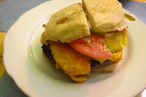 Egg-Sausage Sandwich
