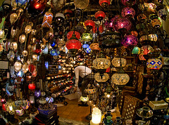 (divya babu) Tags: shop turkey istanbul lanterns grandbazaar