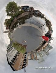 Blackwall stereographic pano (Ian Tindale) Tags: panorama water d50 dark boats gloomy cloudy nikond50 fisheye rainy manualfocus zenith nadir blackwall manualexposure kaidankiwi manfrotto458btripod samyang8mm 6shotpitchvariation manfrotto168ballhead novoflexpanoramaplate nodalcentred