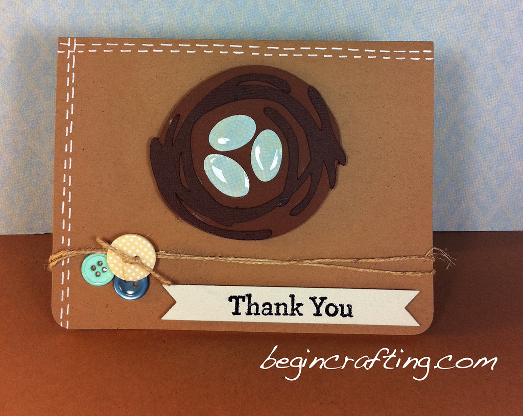 Handmade Thank You Nest Card