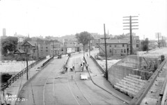 Western Ave from the Rock Island Bridge (7-22-1921) (Norman Rexford) Tags: historic bo westernave stonycreek calumet stbenedict dixiehighway mwrd blueisland rockislandrailroad calsag littlecalumet saganashkee fayspoint
