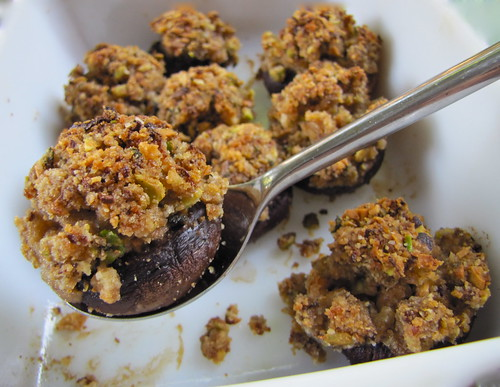 Pistachio Stuffed Mushrooms 4