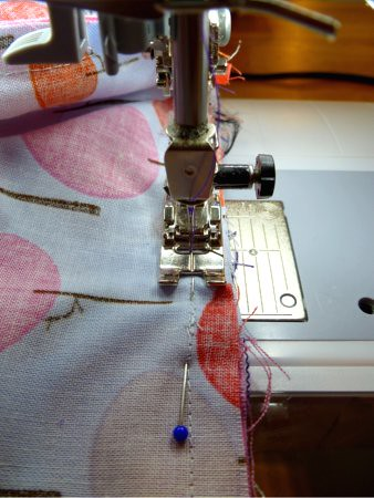 sewing lining to exterior