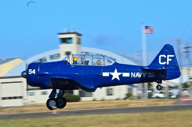 VAW arrivals 1960 North AMerican AT-6D