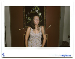(buzzardelbow) Tags: life summer selfportrait color film tattoo self tattoos september instant brunette instax 210 instantfilm fujifilminstax instaxwide