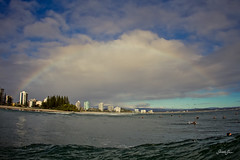 coolangatta (SARA LEE) Tags: morning sunrise early rainbow rocks surf day oz australia qld queensland surfers snapper snappers tweed coolangatta blustery goldcoast sarahlee vivantvie kobetichsarahlee