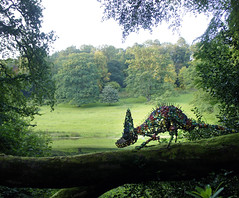 chameleon (moominmama's handbag) Tags: sculpture river bottle trail stourhead chameleon tops scraptor