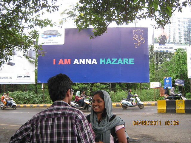 'I am Anna Hazare' hoarding of Wateridge Undri, at Jyoti Restaurant Junction, NIBM - Visit to 24K Allura Residences, 3 BHK 4 BHK Flats - Penthouses at Kolte-Patil Developers' Hills & Dales, Corinthians Club, Undri, P O Mohammadwadi, Hadapsar, off NIBM, Pu