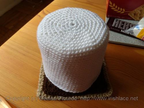 s'mores, crochet: assembled