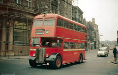 Westgate, Huddersfield, West Yorkshire (Lady Wulfrun) Tags: 1969 1960s westgate 193 aec kirkgate huddesfield eastlancashire regentv pvh993