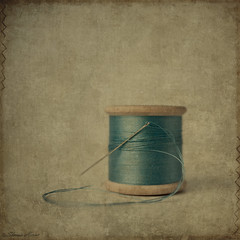 Unwind (sherone72) Tags: uk blue england stilllife colour texture thread spools vintage square lens lumix wooden retro panasonic textures cotton needle faux g1 oldham pancake 20mm bobbin tabletop reel unraveling contemporaryartsociety texturesquared magicunicornverybest stilllifephotoart