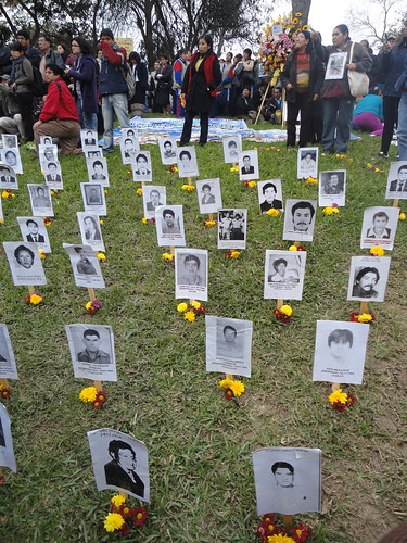 Photos of the Disappeared at the Ojo que Llora Memorial