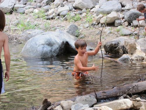 Finn: a stick!