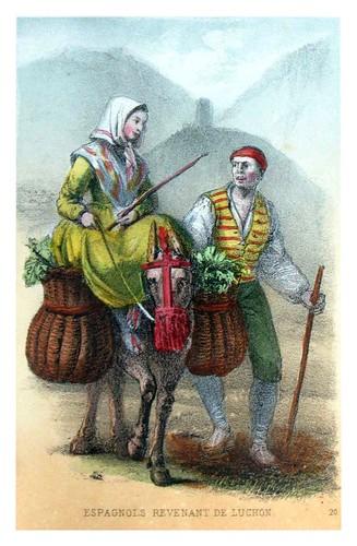 008-Españoles volviendo de Luchon-Costumes pyrénéens-1860