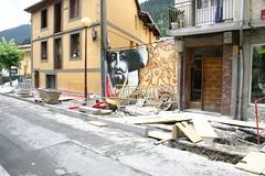 Obras de urbanización de Goienkale para dar homogeneidad al nuevo conjunto cultural por la empresa Eder Construcciones