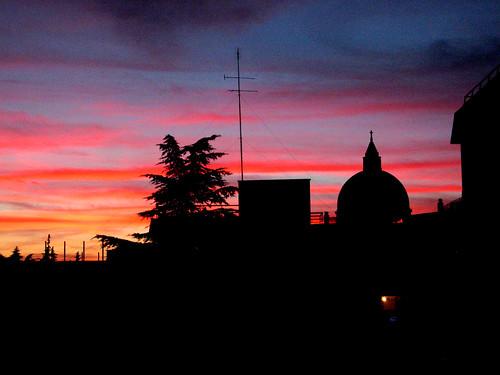 tramonto a strisce