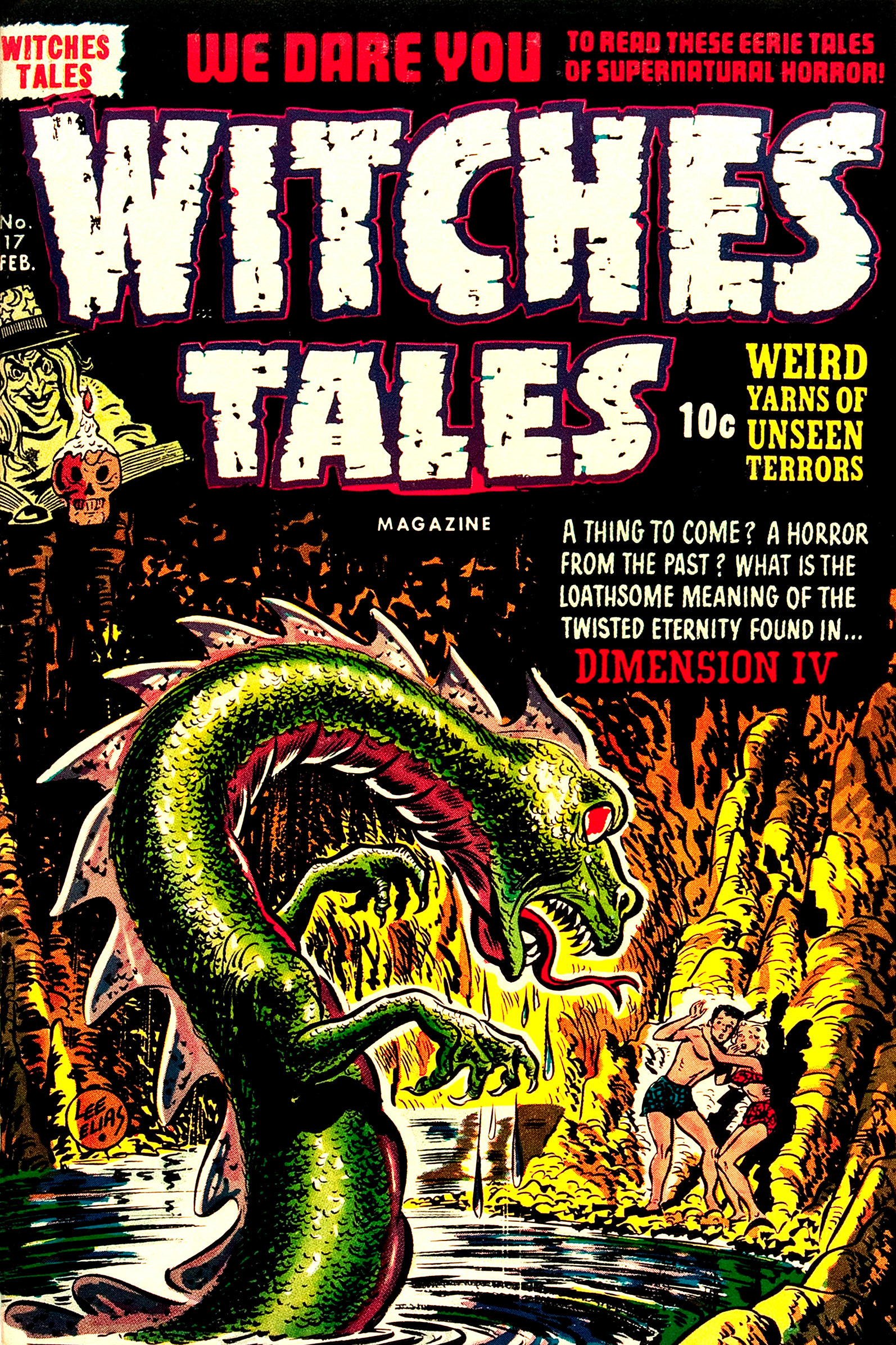 Witches Tales #17, Lee Elias Cover (Harvey, 1953)