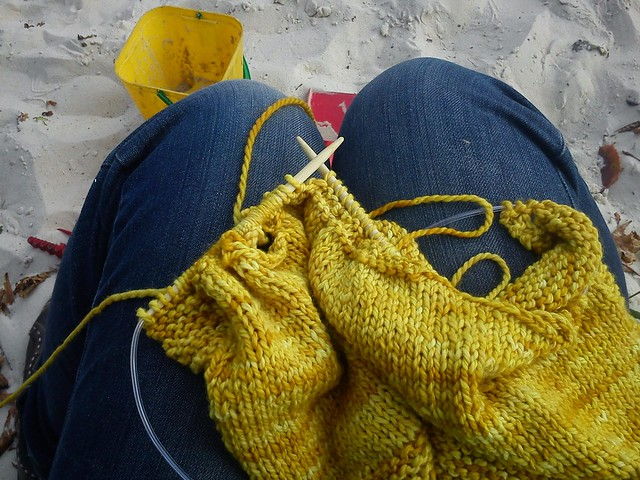 Knitting at the Park